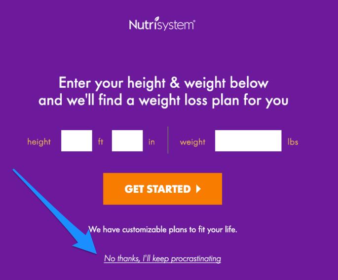 Введите ваш рост и вес, и мы подберем вам диету. Нет, спасибо, я буду прокрастинировать и дальше